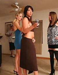 Two Horny Babes Pleasure Lucky Man