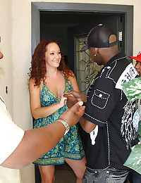 Black guy nails slutty redhead
