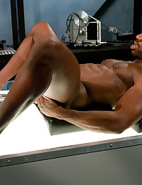 Hunky Black Gay Fucked By Machine