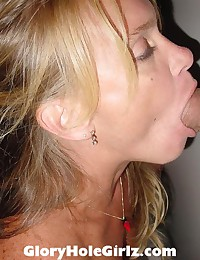 Gloryhole Wife Sucking and Stroking Cum from Cocks