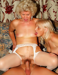 Matures share in the cock