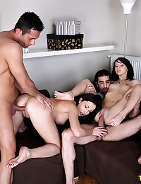 Group sex with double penetration