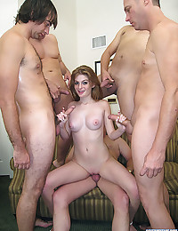 Faye Valentine fucked by 5 guys