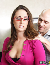 It's Paige Turnah's last day on the job and she wants to leave in style. So she and her lover boy, Johnny Sins, decide to fuck on the boss' desk, drenching his work space with the rich, fragrant smell of her gushing geyser of a pussy! That is, if Milton d