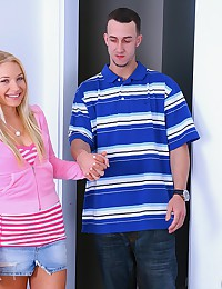 Girl in pink shows dick some love