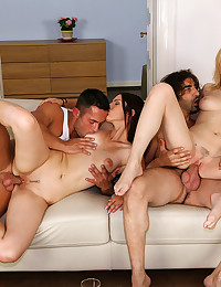 Foursome fun with big cocks
