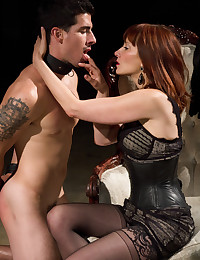 Lucky man whipped by mistress