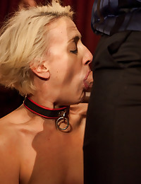 The evening turns into a raucous girl on girl wrestling match for The Stewards cock. Everyone wins and is fucked in the end.