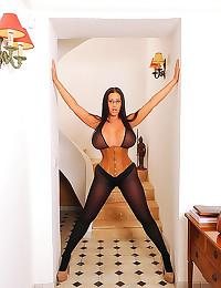 Huge titties chick in corset