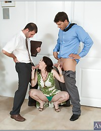 Mega tits milfs in foursome