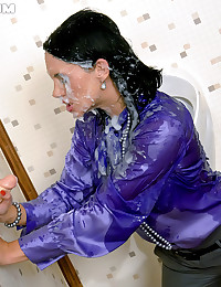 Classy slimeslut rubbing her tight and wet pussy