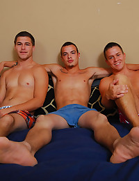 Hard body cuties in threesome