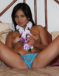 Perfectly Bronzed Asian Minx Katsuni