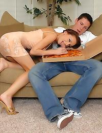 Pizza guy fucks super hottie