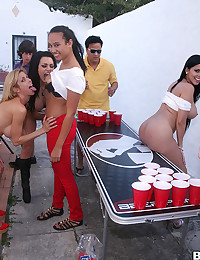 Three Naughty Vixens Enjoy Hot Orgy