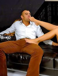 Satin blouse girl hardcore sex