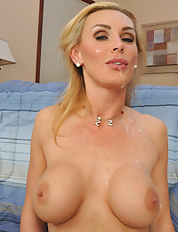 Leggy Cougar Tanya Gets Jizzed On