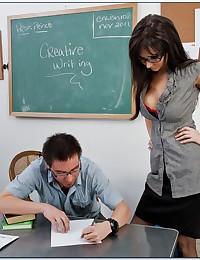 Really hot teacher in glasses