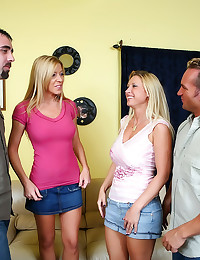 Wife swapping in a foursome