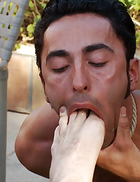 Gianni Luca gets bound and humiliated at Helios Resort in Palm Springs.
