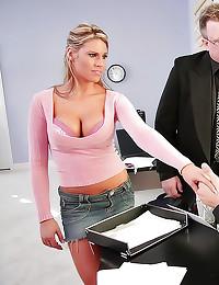Tight sweater office sex
