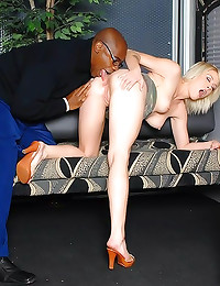 Hot little blonde goes black