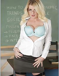 Teacher is a busty hottie