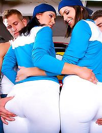 Wonderful asses filled by big...