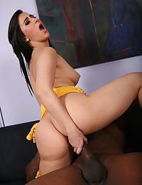 Horny Minx Valerie Rides Black Dong