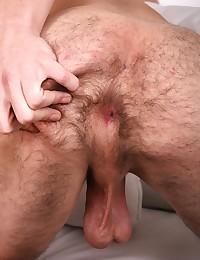 Pretty boy Phillip shows off his long fat cock.
