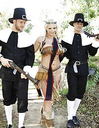 Three Sexy Cherokee Babes Banged