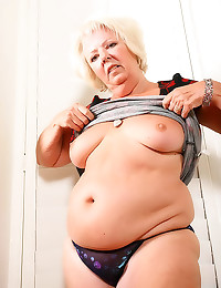 Fat old lady striptease
