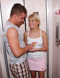 She jerks him off after sex