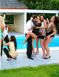 Classy sluts at outdoor orgy