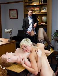 Ass fisting threesome