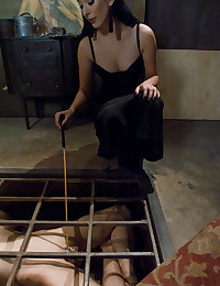 Submissive in a cage