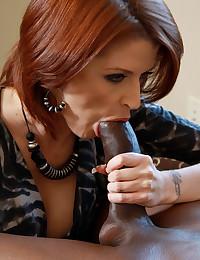 Milf redhead going black