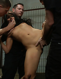 Beautiful girl fantasizes about being abducted, held captive, and fucked in every hole by a large group of men