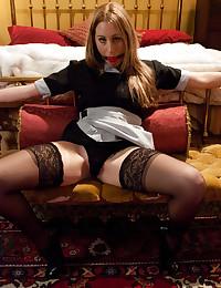 Sexy French maid bondage