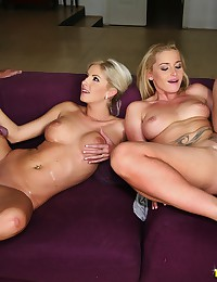 Blondes fucked by two guys