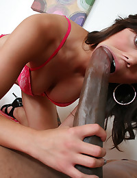 She takes a huge black cock