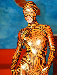 Full spandex tiger outfit