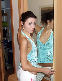 Skinny amateur and her man