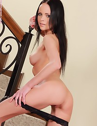 In Focus Girls presents Angellina in Staircase Seductress.