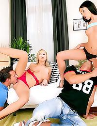 Euro sluts foursome fuck fun