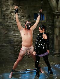 Sandra Romain dominates slave boy