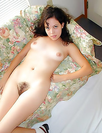 Hairy vagina and sweet smile