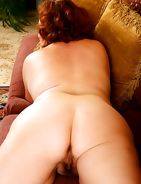 Old redhead has a fat ass