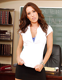 Busty Teacher Capri Strips Naked