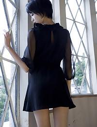 Lingerie on skinny Japanese beauty
